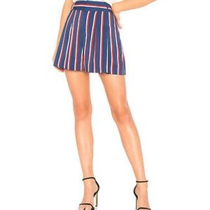 Alice + Olivia Collegiate Stripe Shorts Size 4 NWT